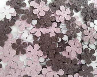 Confettis flowers - 200 Flowers - Scrapbooking - Party confetti - wedding confettis - up cycling confettis -  table confettis flower A4