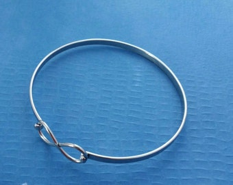 INFINITY Stainless Steel Bangle Bracelet, - One Size Fits All Bracelet, Stacking Bracelet, Supply Jewelry Making, Metalwork