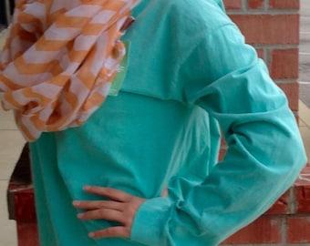Monogrammed Long Sleeve T-Shirt - Comfort Color | Left Hip Monogram | Monogram Comfort Color | Monogram Long Sleever Tee | Monogram T-Shirt