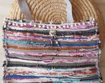 Kourelou Bag, Kilim Bag, Boho Tote, Kourelou Tote, Pom Pom Bag, Ethnic Bag, Hippie Festival Bag, Bohemian Bag, Ethnic Tote, Easter Gift