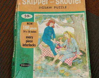 Vintage Skipper and Scooter Puzzle