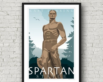 Spartan Statue (Sparty)-Michigan State University