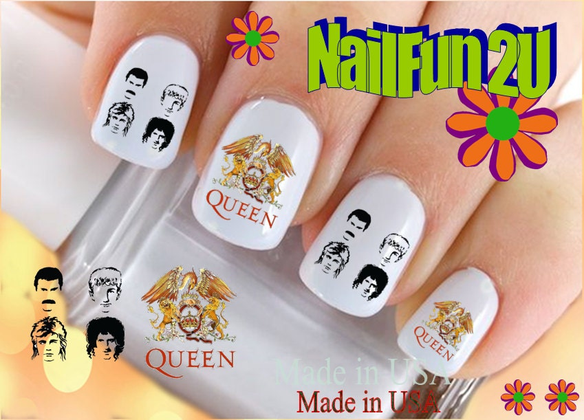 CHARACTER Nail Decals Queen Rock Band Group