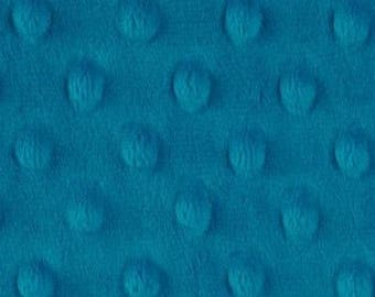 Velvet dark dot in the coupon minky fabric