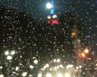Empire State Building in the Rain