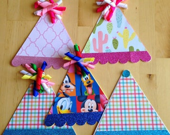 Festive and Adorable Birthday Hat Cards with Korker Ribbon Pom-Poms!