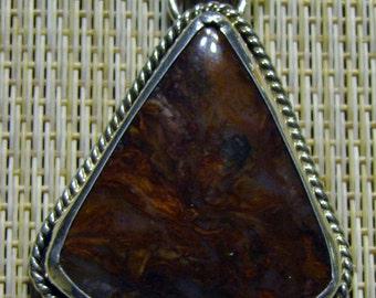 Triangle Shape Petersite Pendant