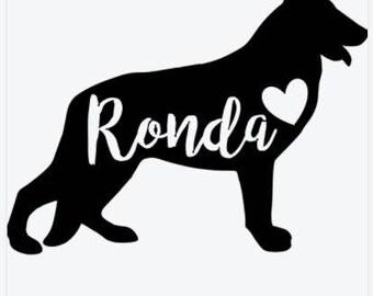 Personalized German Shepherd Sticker