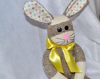 Easter Bunny in Brown, Brown Rabbit, Easter Baster, Childrens Easter Gift