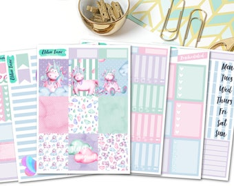 ULTIMATE Stay Magical Weekly Kit // Planner Stickers // Decorative // Erin Condren Life Planner // Vertical Layout // Unicorn Sticker Kit
