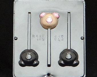 Pig Lollipop Chocolate Candy Mold Piggy 3428