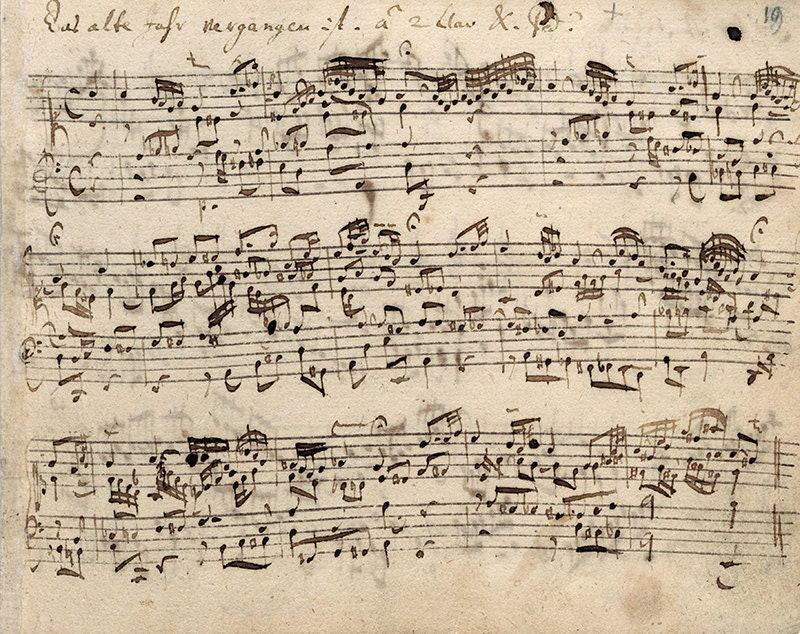 Download Bach music notes note musical old music sheets