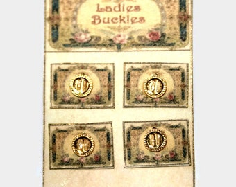 Ladies Buckle Sales Card ~ Dolls House Miniature ~ 12th Scale
