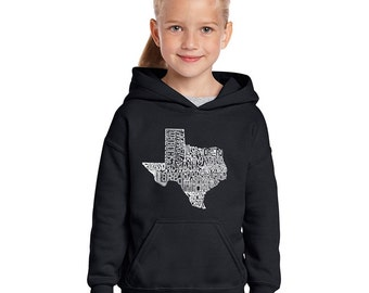 Girl's Hooded Sweatshirt - The Great State of Texas