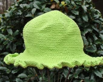 Infant Hat - Infant Sun Hat - Hand Crochet Hat