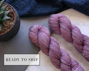 Hand dyed yarn, rosy lace cashmere yarn, hand dyed lace yarn, handgefärbte wolle tencel, handmade gift for wife  -  Roses