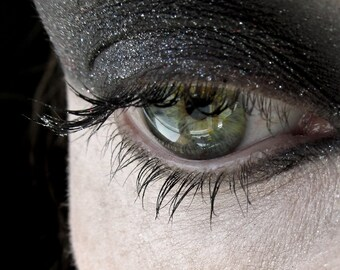 Celestial Orion Mineral Eye Shadow Black with Red and White Sparkles, LIMITED EDITION, Vegan, LAST one