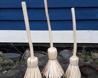 Handcrafted Decorative Birch Broom, art, decor, natural, wood folk art
