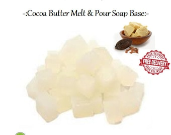 Cocoa Butter Melt and Pour Soap Base SLS Free 1kg, 5kg , 11kg, 11.5kg, 12kg, 25kg
