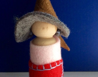 Waldorf inspired Felted Gnome