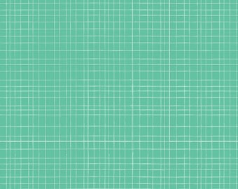(Only) crib skirt, green mesh (turquoise, mint)