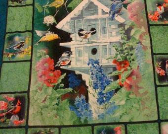 Reversible Bird House quilt