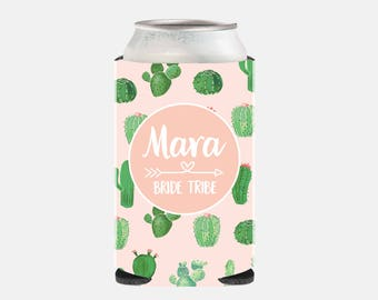 Cactus Bachelorette Party Favors Bridesmaid Gift Ideas Pink Can Cooler Bridesmaid Favor Bride Tribe Custom Cactus Favors for Wedding Fun