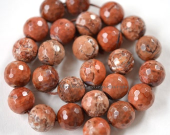 Multi Color Tan Brown Fire Agate Faceted Rounds 14mm -1/2 STRAND