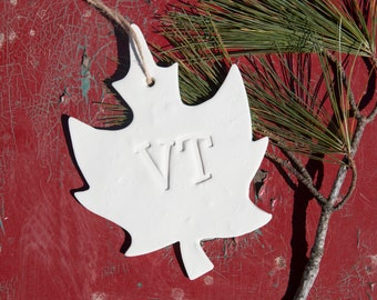 Maple Leaf Vermont Ornament