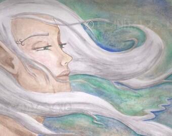 ACEO Fantasy ART Fairy Faerie Elf Wind Elves Goddess