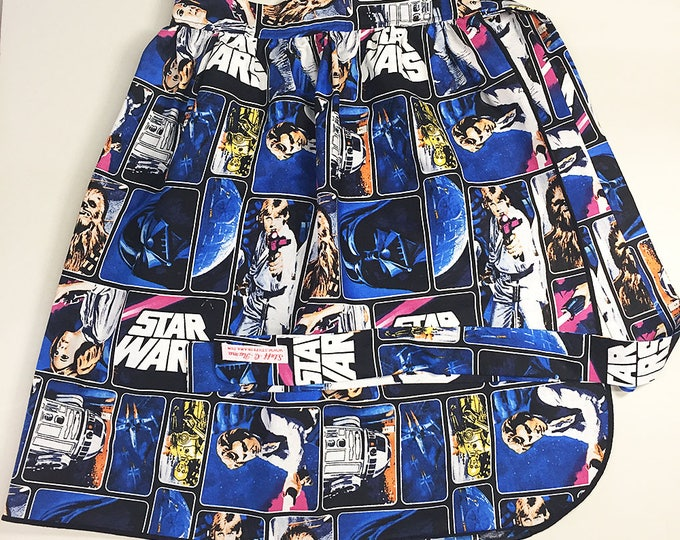 Half Apron - Vintage Pin Up Skirt Style - Star Wars A New Hope 1977