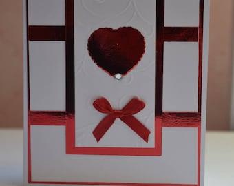 Red Valentine's Day card