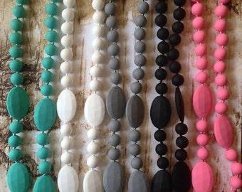 Silicone Teething necklace, Teething necklace, Necklace for mom, Sensory Necklace, Nursing Necklace, BPA Free, Nursing Moms, Teething babies