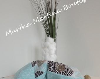 Ahhh-Maize-ing Corn Comfort Sak Multi Size Wrap 'Soothing Spa', Blue, White, Aqua, Microwave Corn Bag