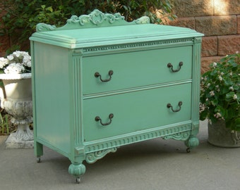PAINTED ANTIQUE DRESSER - Order Custom - We Restore And Refinish Your Way - Shabby Chic French Country