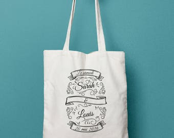 Tote bag-wedding - Vintage slate Personalized Tote Bag - wedding tote bag - Canvas Tote Bag - Maid of Honor Tote bag