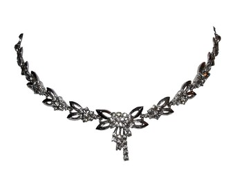 Sterling Silver and French Paste Necklace