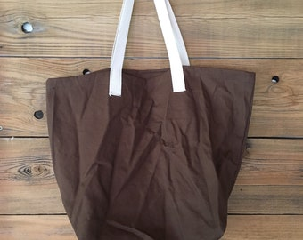 Brown Cotton bag, more colors, canvas shopping bag, cotton reusable bag, Mens shopping bag, Basic Shopping Bag II