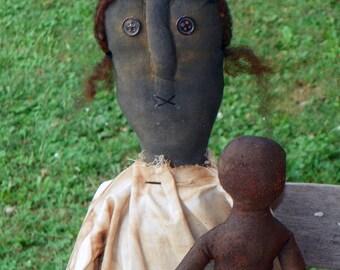 Grungy Black Doll w/Grubby Gingerbread Man