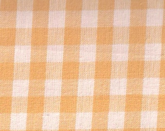 Woven yellow gingham by Westrade