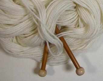 Snowy White Organic Merino Yarn