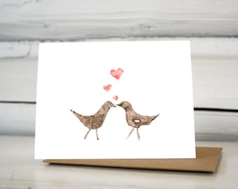 Love birds Valentines card