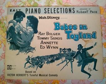 Walt Disney Presents Babes in Toyland + Robert Pace, arranger + 1961 + Vintage Sheet Music