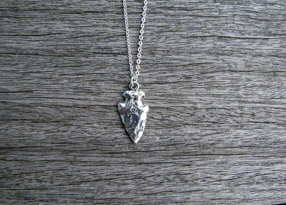 Solid sterling silver arrowhead necklace silver arrow necklace solid sterling silver arrowhead necklace silver arrow necklace hammered silver necklace silver arrowhead pendant boho tribal necklace spear mozeypictures Gallery