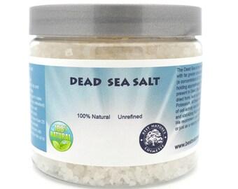 100% Natural Dead Sea Salt. Unrefined.