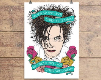 The Cure - Robert Smith - Lovecats - Greeting Card - Valentine's Day - Anniversary