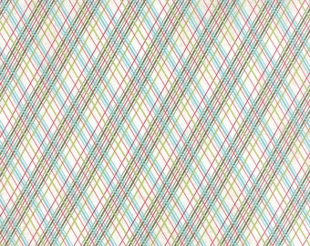 Green, Red, Teal Plaid Holiday Fabric - Juniper Berry by Basicgrey from Moda - 1 Yard