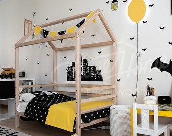 Toddler Bed, Twinf Or (King) SINGLE Size House Bed, Children Bed Frame