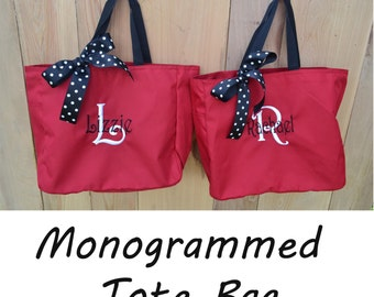 8 Personalized Bridesmaid Gift Tote Bag- Bridesmaid Gift- Personalized Bridesmaid Tote- Wedding Party Gift- Name Tote- Bridal Party Gift