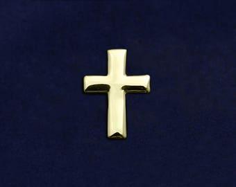 Gold Cross Tac Pin in a Bag (1 Pin - Retail) (RE-RP-06G)